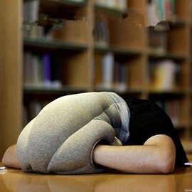 Easy to Carry Office Camping Soft and Comfortable Travel Ostrich Pillow