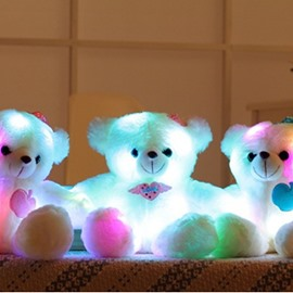 Adorable LED Light Teddy Bear Stuffed Plush Toy Gifts