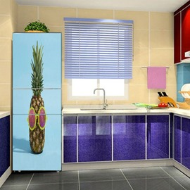 Creative Pineapple Pattern Self Adhesive Removable Fridge Sticker