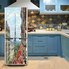 Creative Pattern Waterproof PVC Material Removable Fridge Sticker