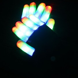 Led Colorful Luminous Performance Gloves New Exotic with Led Light Flash Gloves