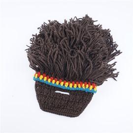Funny Wig Beard Cap Rasta Wool Cap