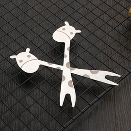 Cute Giraffe Cartoon Stainless Steel Fruit Fork