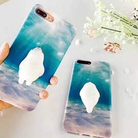 Squishy Seal Polar Bear iPhone 6/6s/7/plus Cute Phone Back Cover