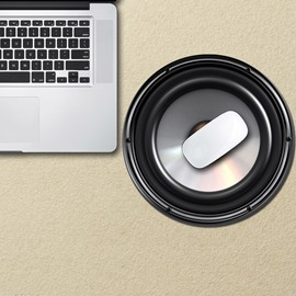 3D Speaker Pattern Removable Mouse Pad Desk Stickers
