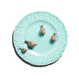 3D Green Dish Snails Pattern Non Slip Rubber Mouse Pad