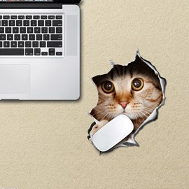 3D Cat Tear the Wall Non Slip Rubber Mouse Pad