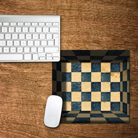 3D Go Boards Box Pattern Non Slip Rubber Mouse Pad