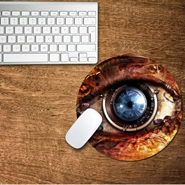 3D Mechanical Eyes Pattern Removable Mouse Pad Desk Stickers
