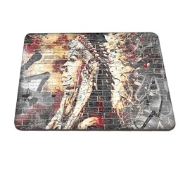 Indian Face Wall Pattern Hard Plastic Cover for MacBook