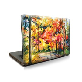 Colorful Oil Forest Fall Pattern Hard Plastic Cover for MacBook