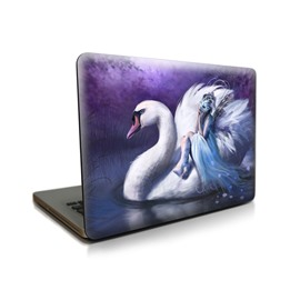 Swan Girl Pattern Hard Plastic Cover for MacBook