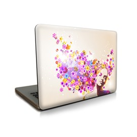 Dream Girl Floral Pattern Hard Plastic Cover for MacBook