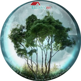 Beddinginn Green Tree Non Slip Rubber Mouse Pad