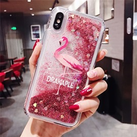 Extremely Beautiful Pink Flamingo Solid Glitter Powder Sequin Phone Case