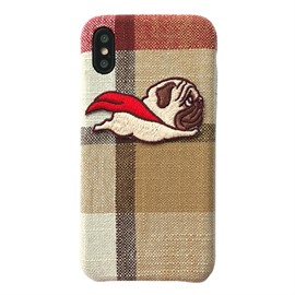 Superman Pug and Piglet Plaid Phone Case