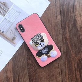 Cute 3D Cartoon Dog Silicone iPhone Case Cover