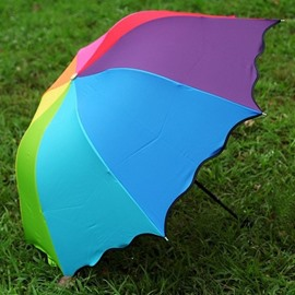 Wonderful Colorful Rainbow Sun Umbrella