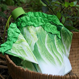 Vivid Cabbage Design Folded Personal Umbrella