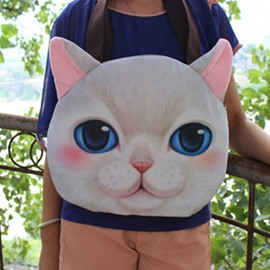 Super Cute Cat Face Pattern 3D Painted Hand Bag