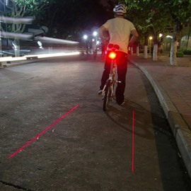 Cool Safe Ground Red Laser Bicycle Taillight