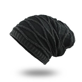 Winter Plus Velvet Warm Rhombus Head Men's Outdoor Hat