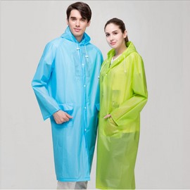 Adult Long Outdoor Travel Fashion Men and Women Lightweight Eva Transparent Raincoat