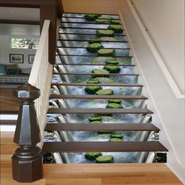 Waterfall Scouring Stones 3D Waterproof Stair Murals