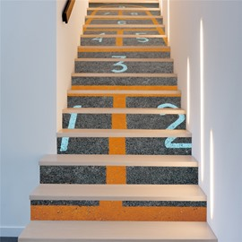 Running Track 13-Piece PVC 3D Waterproof Stair Murals