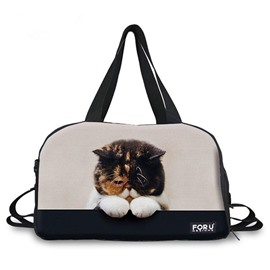 Lovely Cat Pattern 3D Painted Travel Bag
