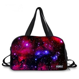 Amazing Purple Galaxy Pattern 3D Painted Travel Bag