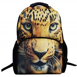 3D Leopard Print Hiking Travel 1.15L Durable 2 Layers Backpack