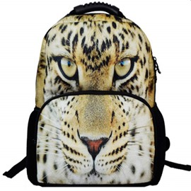 Outdoor 3D Leopard Face Hiking and Traveling 1.15L Durable 2 Layers Backpack