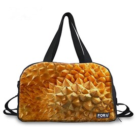 Durian Peel Pattern 3D Painted Travel Bag