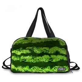 Vivid Watermelon Peel Pattern 3D Painted Travel Bag