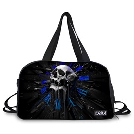 Abstract Skull Pattern Black 3D Painted Travel Bag