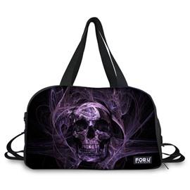 Stylish Purple Skull Pattern 3D Painted Travel Bag