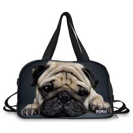 Cute Shar Pei Pattern 3D Painted Travel Bag