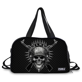 Super Skull with Guns Pattern 3D Painted Travel Bag
