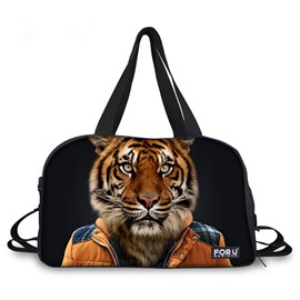 Cool Tiger Sir Pattern 3D Painted Travel Bag