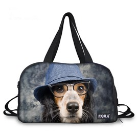 Creative Dog with Hat Pattern 3D Painted Travel Bag