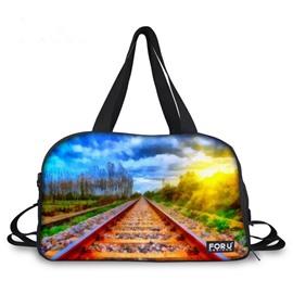 Pretty Rail Landscape Pattern 3D Painted Travel Bag