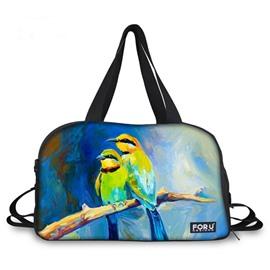 Wonderful Parrot Couple Pattern 3D Painted Travel Bag
