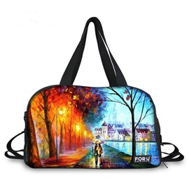 Different Season Landscape Pattern 3D Painted Travel Bag