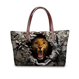 Leopard Roar in the Dark 3D Printed for Women Girls Shoulder HandBags