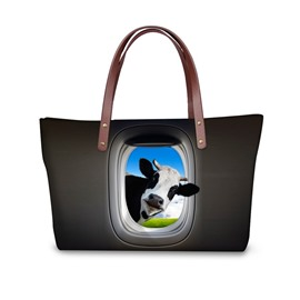 Doubtful Cows 3D Printed for Women Girls Shoulder HandBags