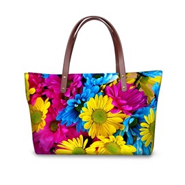 Daisy Waterproof Floral Pattern Printed Shoulder HandBags