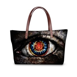 Monster Eyes Waterproof Shoulder 3D Printed HandBag