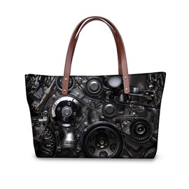 Mechanical Gear Waterproof 3D Printed Shoulder Handbag
