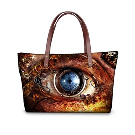 Mechanical Eye Charming Waterproof Sturdy 3D Printed for Women Girls Shoulder HandBags